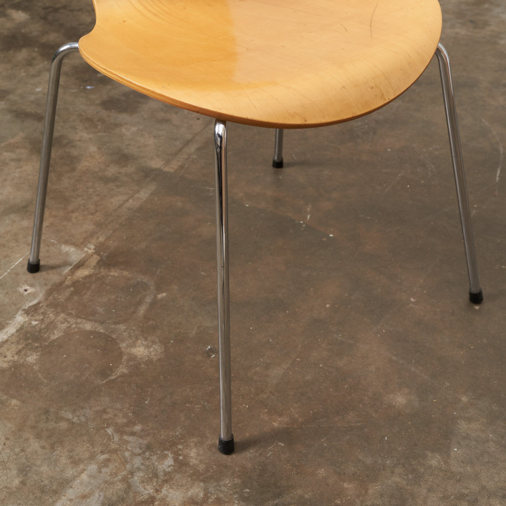 Set of Fritz Hansen series 7 dining chairs,-136774