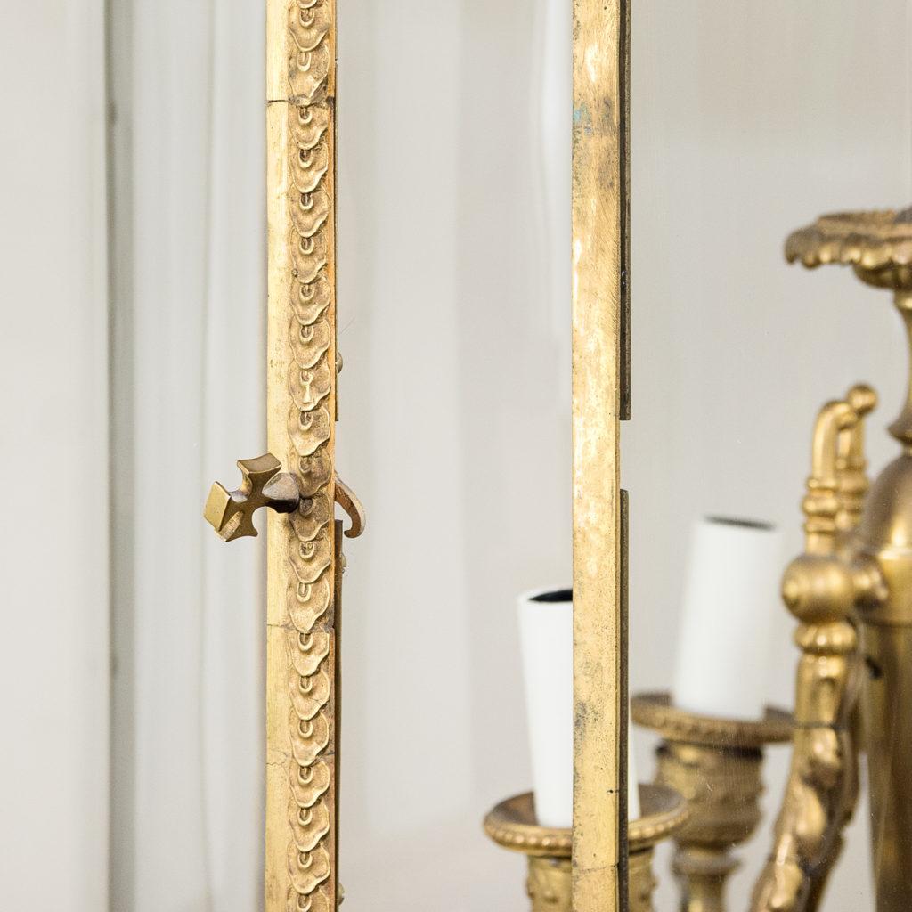 Louis XVI style gilt-bronze cylindrical hall lantern, -136912
