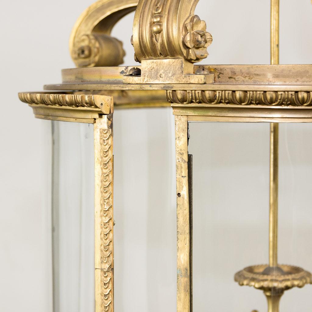 Louis XVI style gilt-bronze cylindrical hall lantern, -136913