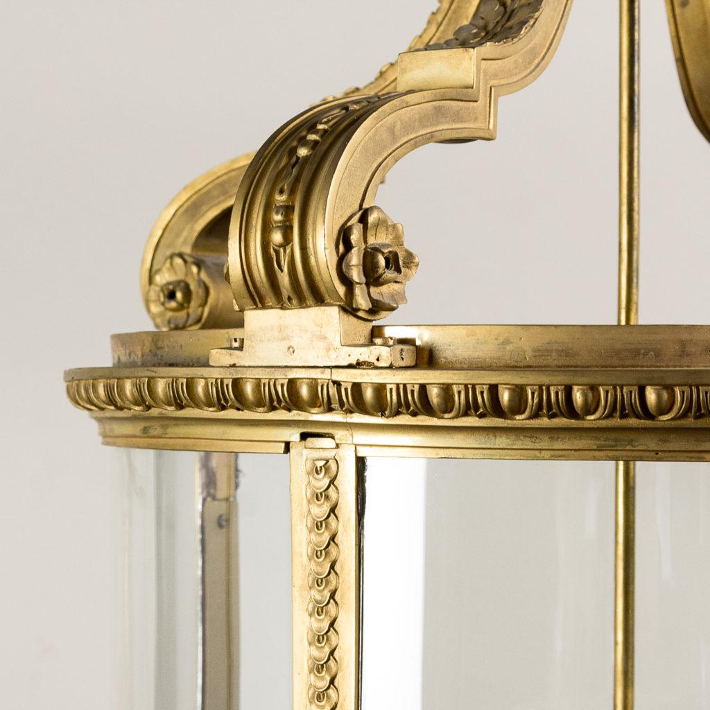 Louis XVI style gilt-bronze cylindrical hall lantern, -136906