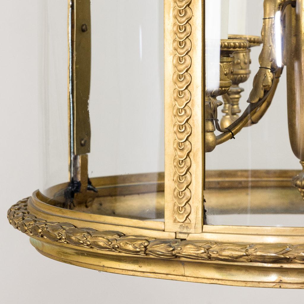 Louis XVI style gilt-bronze cylindrical hall lantern, -136907