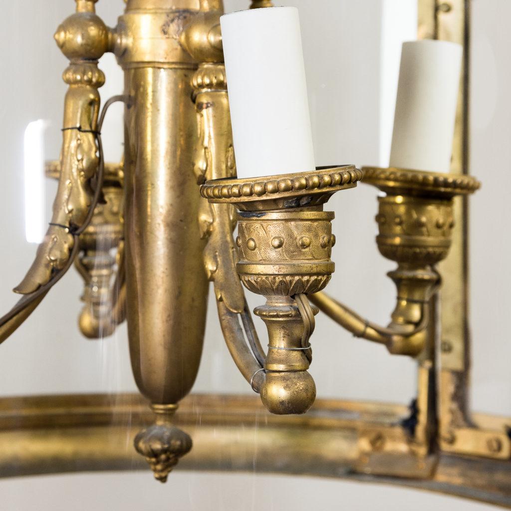 Louis XVI style gilt-bronze cylindrical hall lantern, -136908