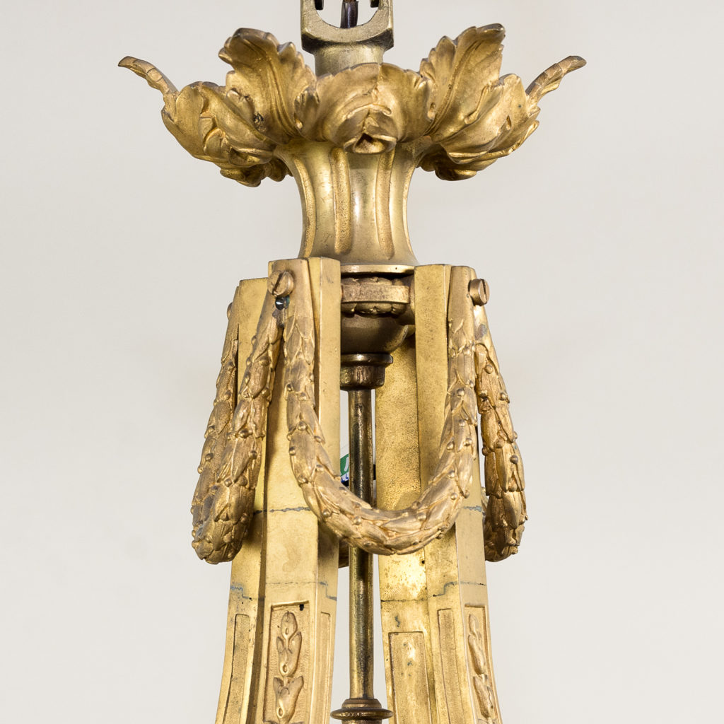 Louis XVI style gilt-bronze cylindrical hall lantern, -136910