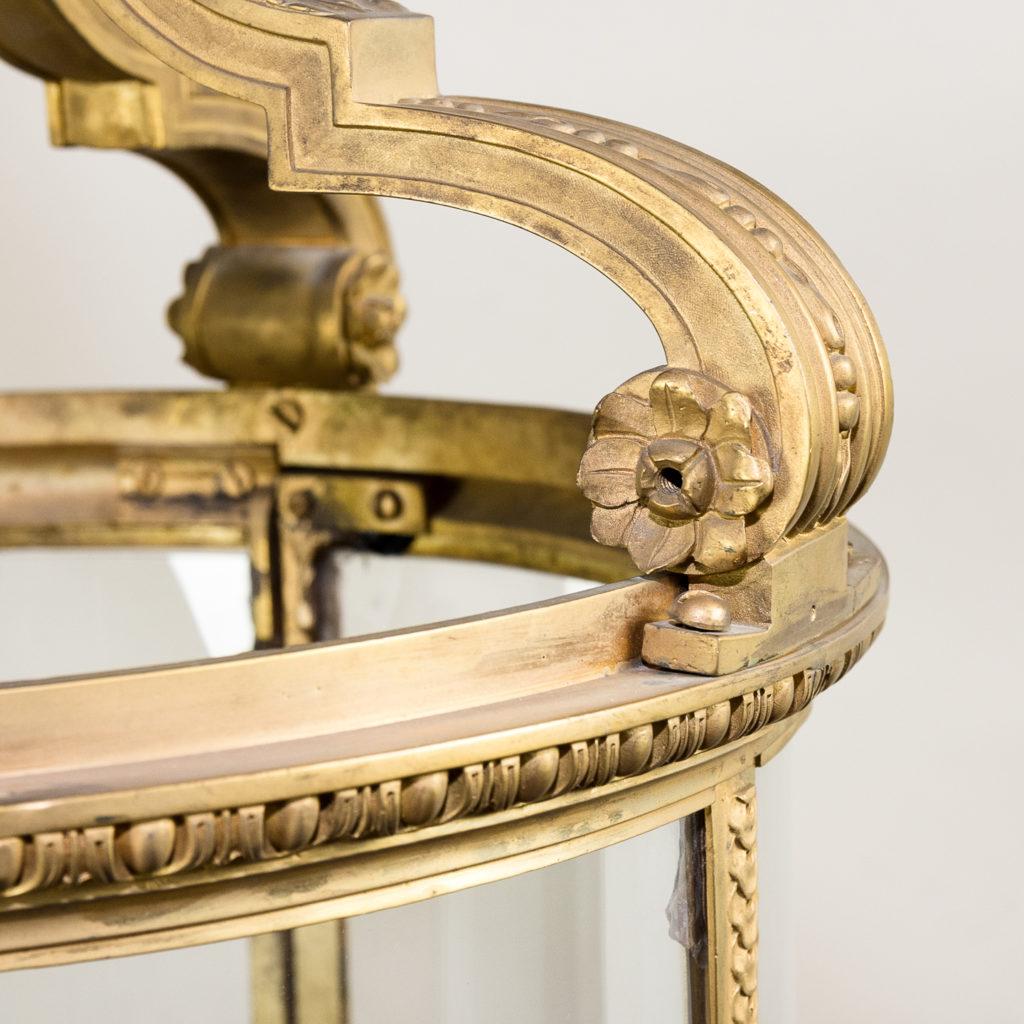 Louis XVI style gilt-bronze cylindrical hall lantern, -136911