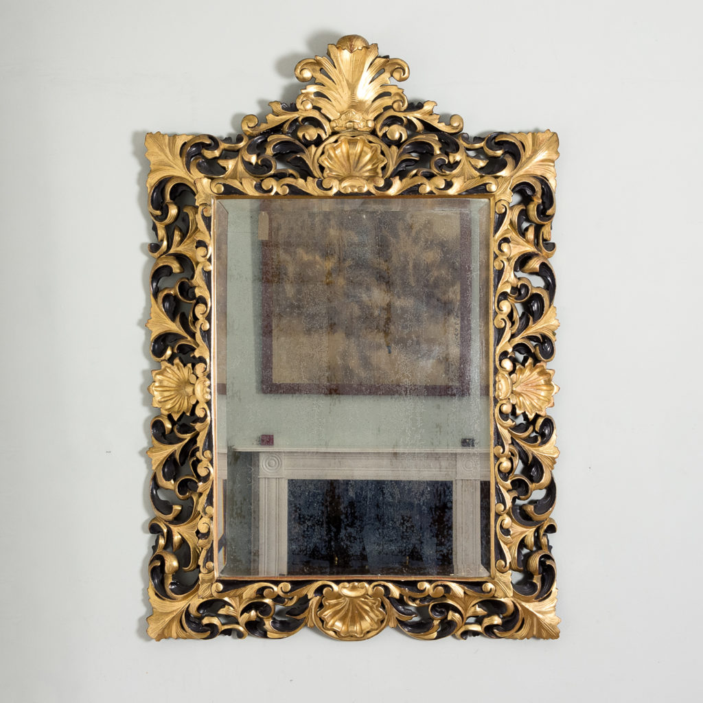 Early twentieth century Italian giltwood wall mirror,