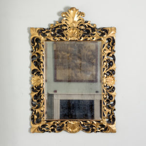 Early twentieth century Italian giltwood wall mirror,