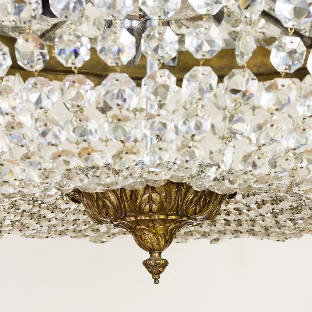 Two large Empire style tent and bag chandeliers,-136616