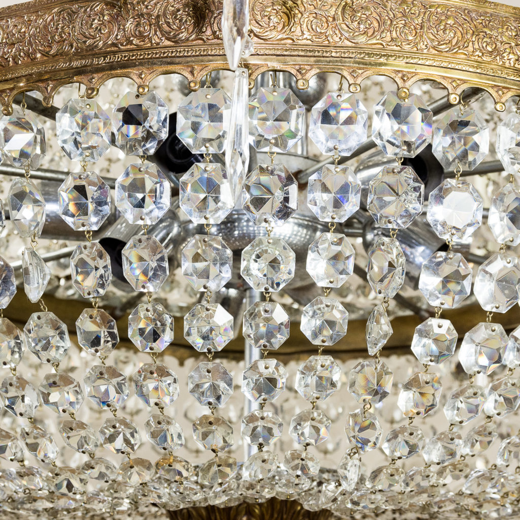Two large Empire style tent and bag chandeliers,-136619