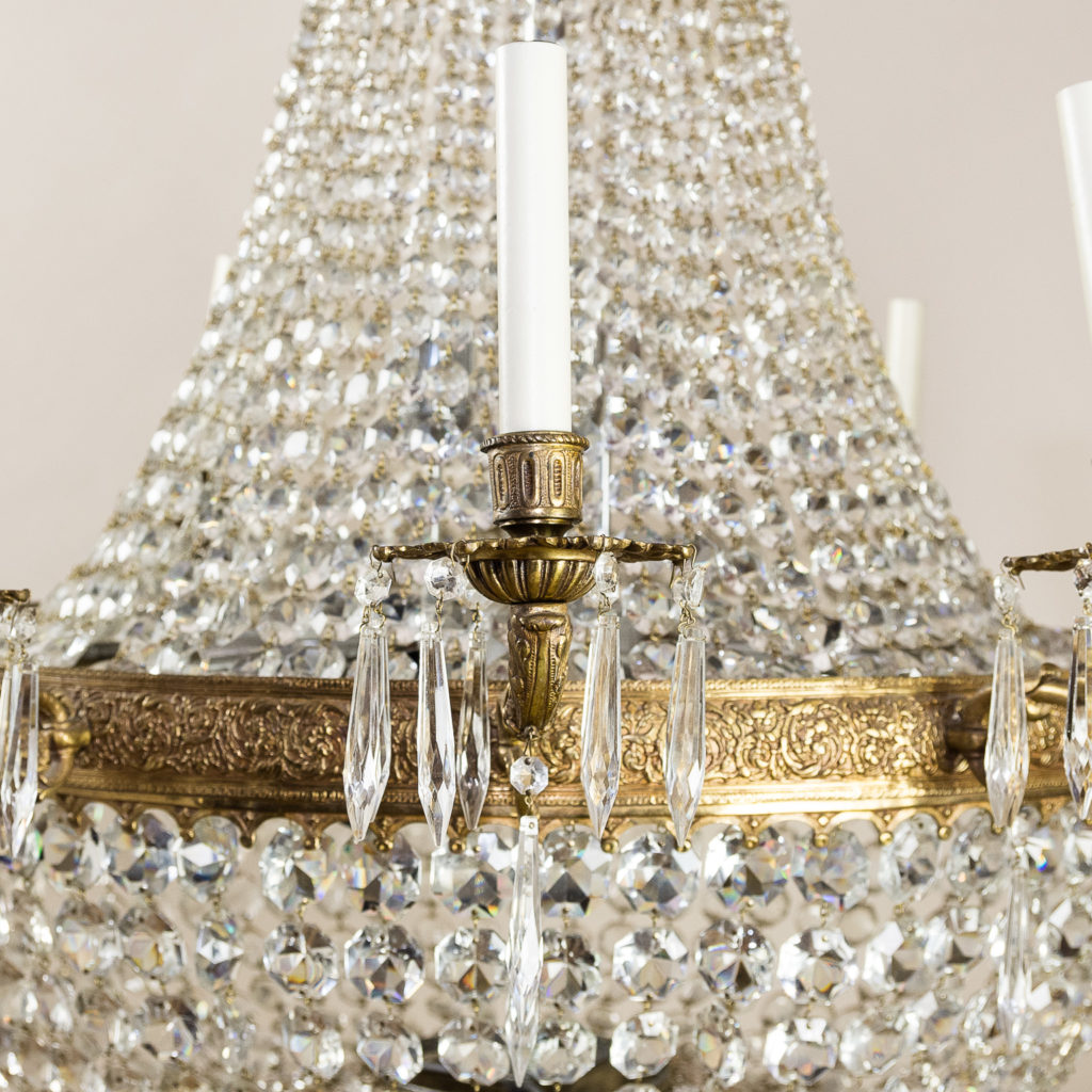 Two large Empire style tent and bag chandeliers,-136606