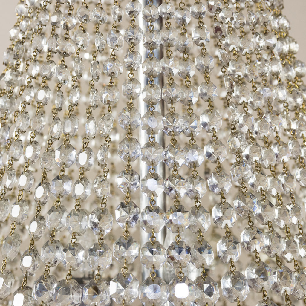 Two large Empire style tent and bag chandeliers,-136609
