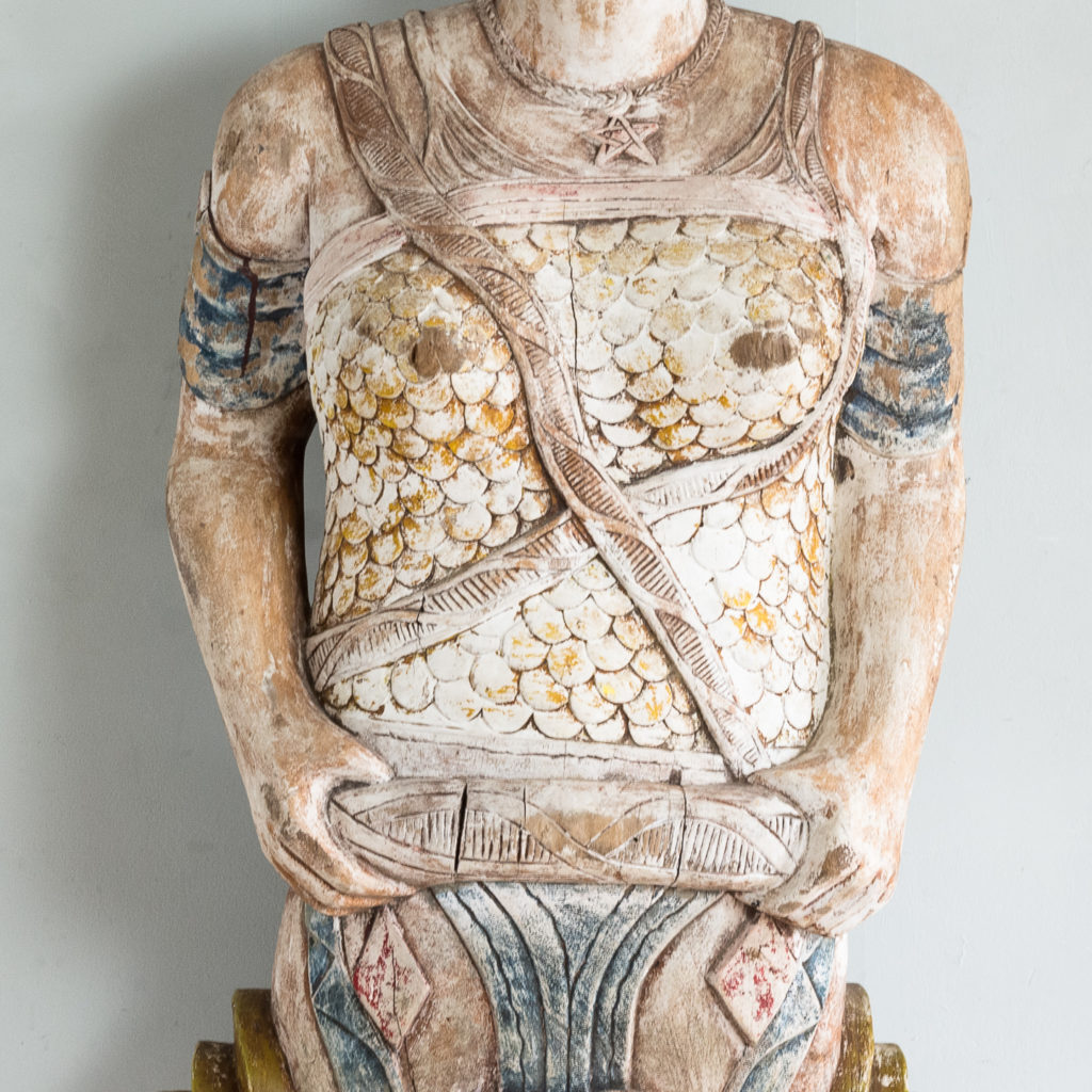 Early twentieth century English carved figurehead of Queen Boudica, -137029