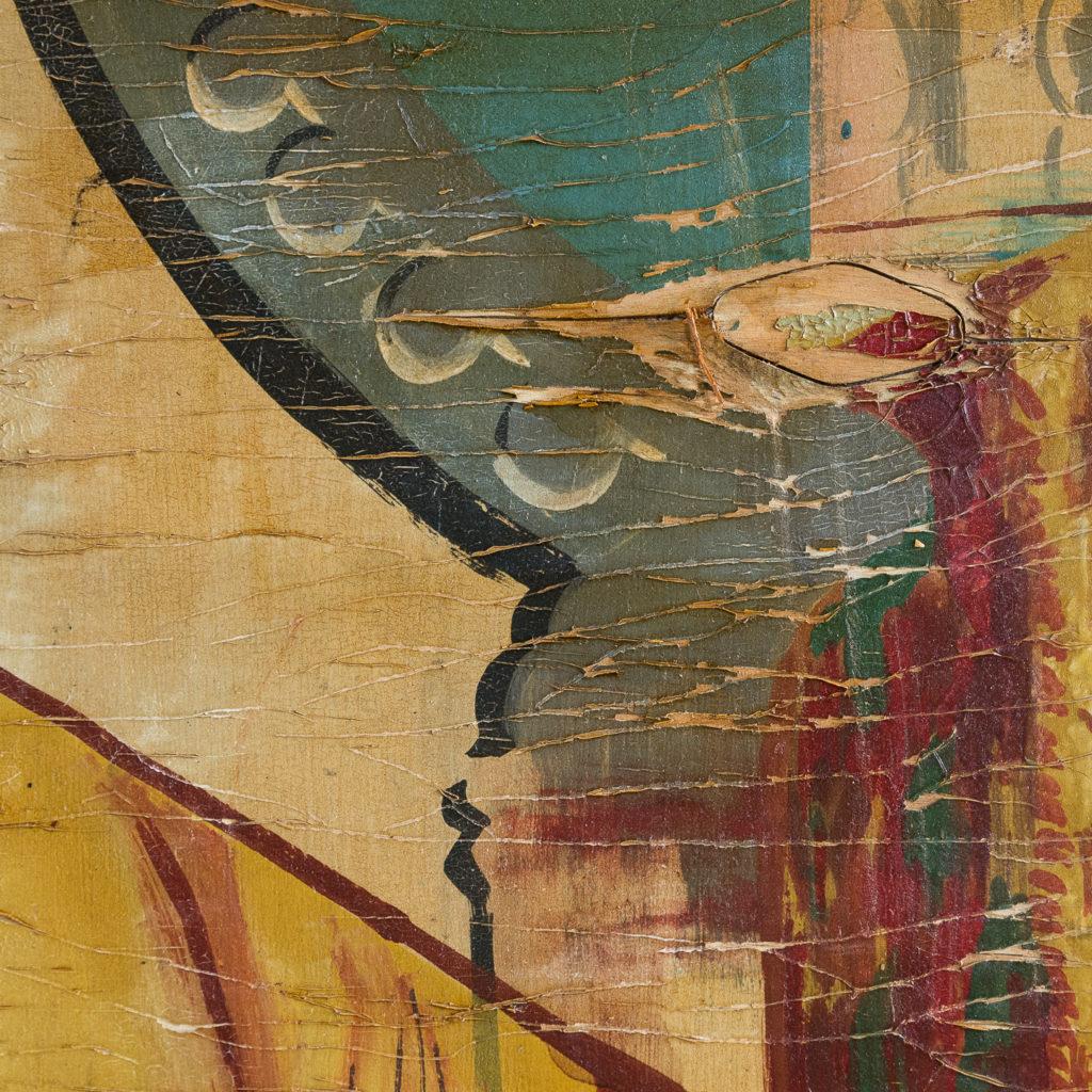 Pair of English mid-twentieth century painted fairground panels,-136981