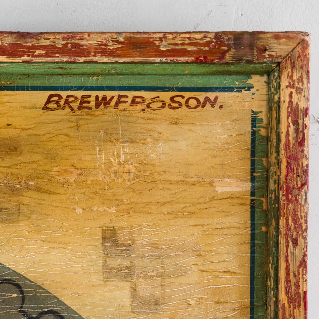 Pair of English mid-twentieth century painted fairground panels,-136983