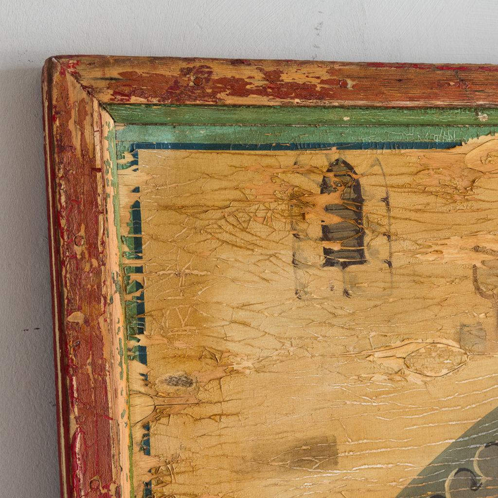 Pair of English mid-twentieth century painted fairground panels,-136984