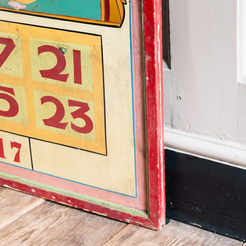 Pair of English mid-twentieth century painted fairground panels,-136988