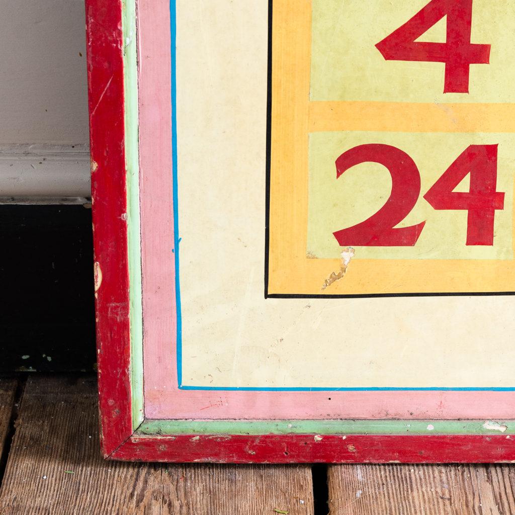 Pair of English mid-twentieth century painted fairground panels,-136993