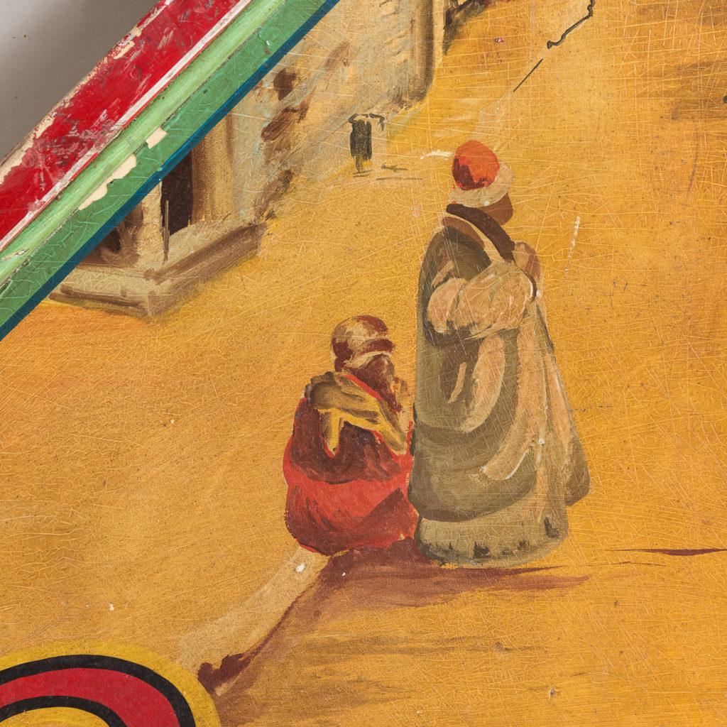 Pair of English mid-twentieth century painted fairground panels,-136998