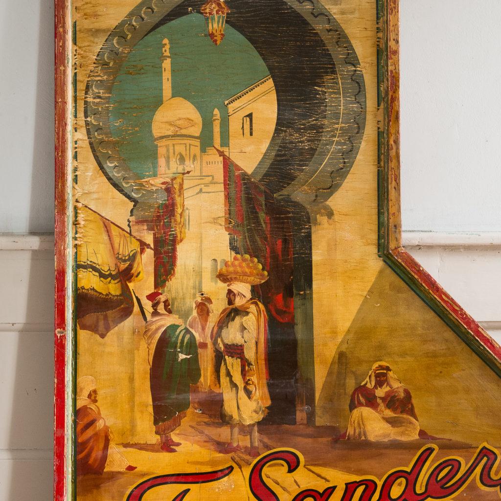 Pair of English mid-twentieth century painted fairground panels,-136972