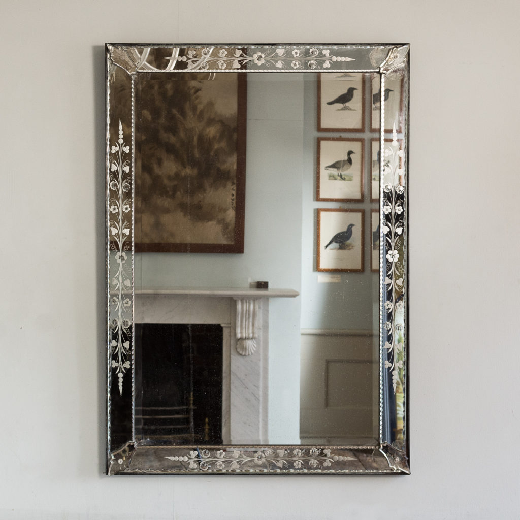 1930s Venetian acid-etched mirror,