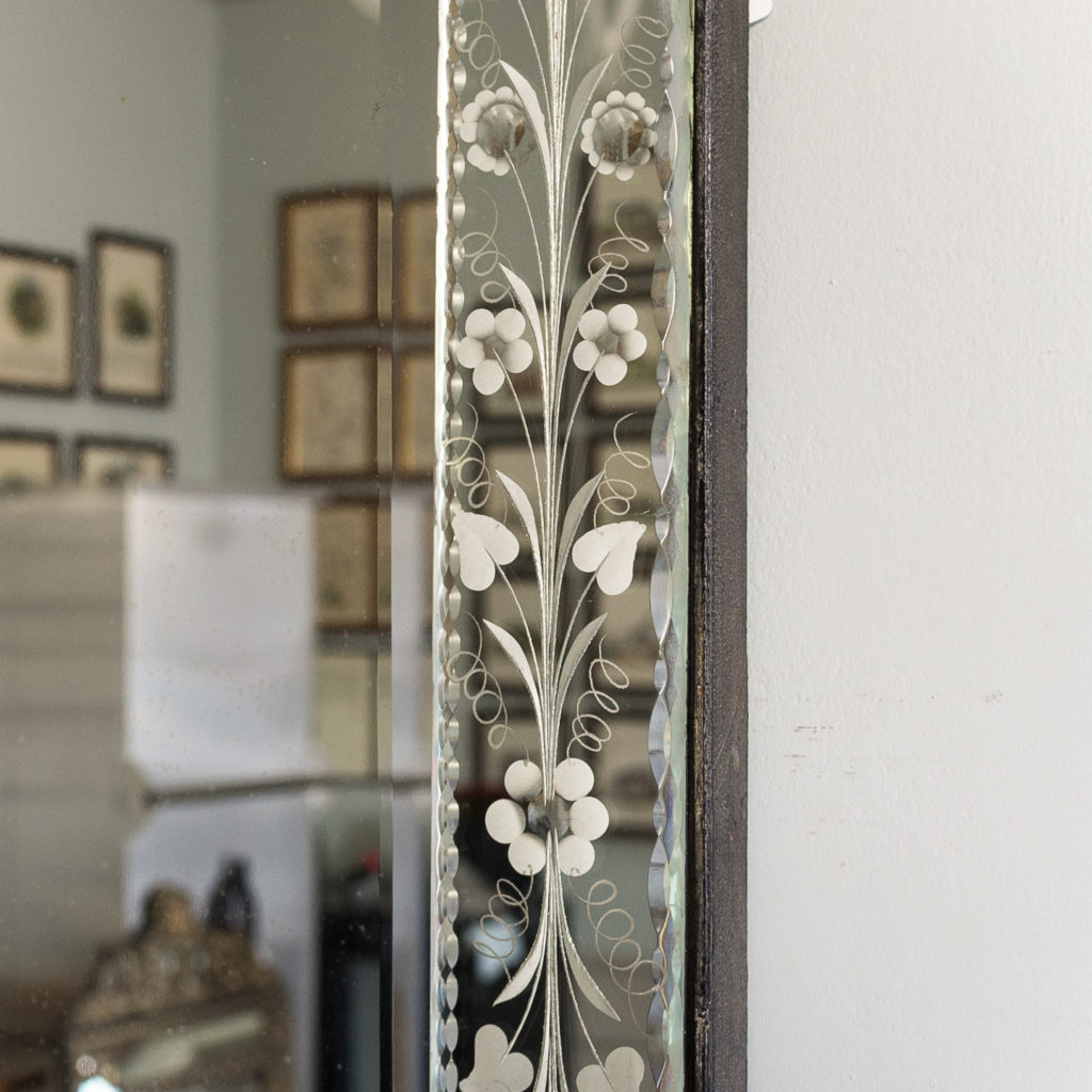 1930s Venetian acid-etched mirror, -137045