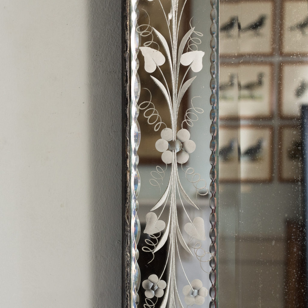 1930s Venetian acid-etched mirror, -137046