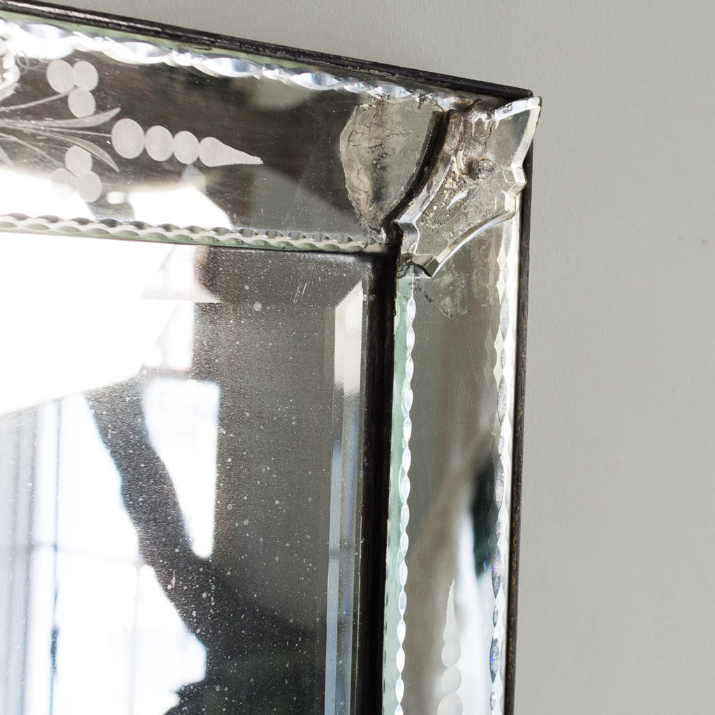 1930s Venetian acid-etched mirror, -137047