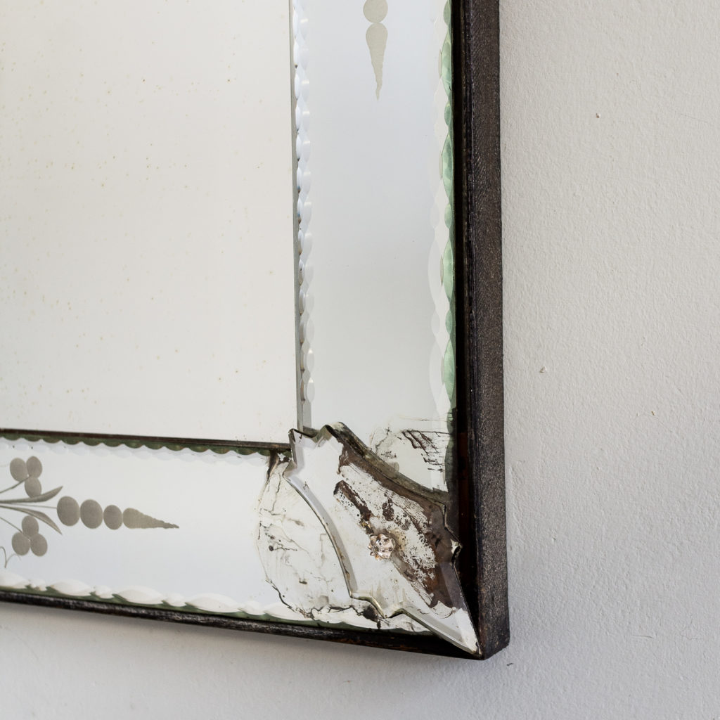 1930s Venetian acid-etched mirror, -137049