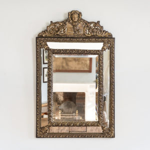 Napoleon III repousse cushion mirror,