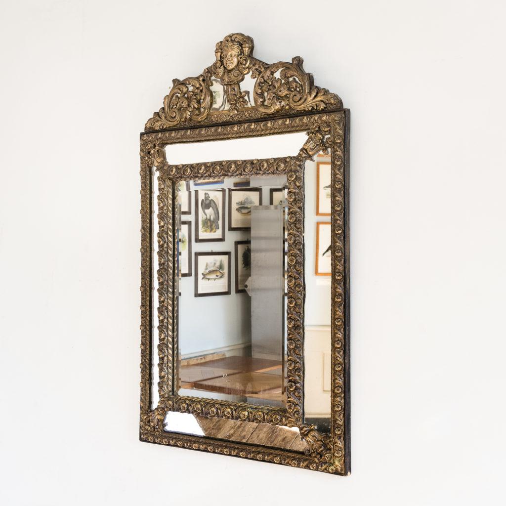 Napoleon III repousse cushion mirror,
