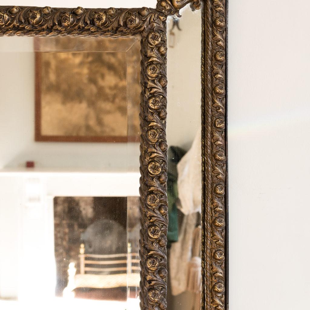 Napoleon III repoussé cushion mirror, -137054