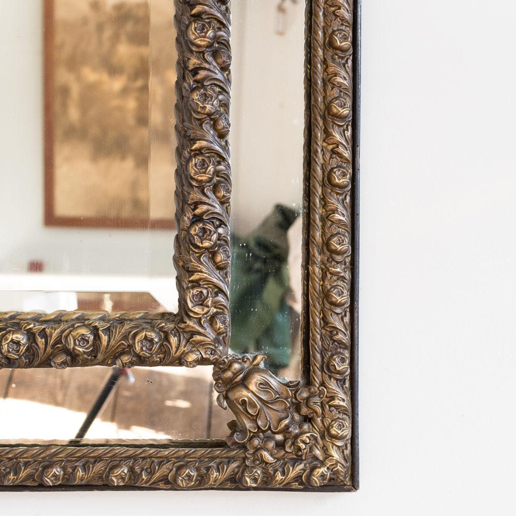 Napoleon III repoussé cushion mirror, -137055