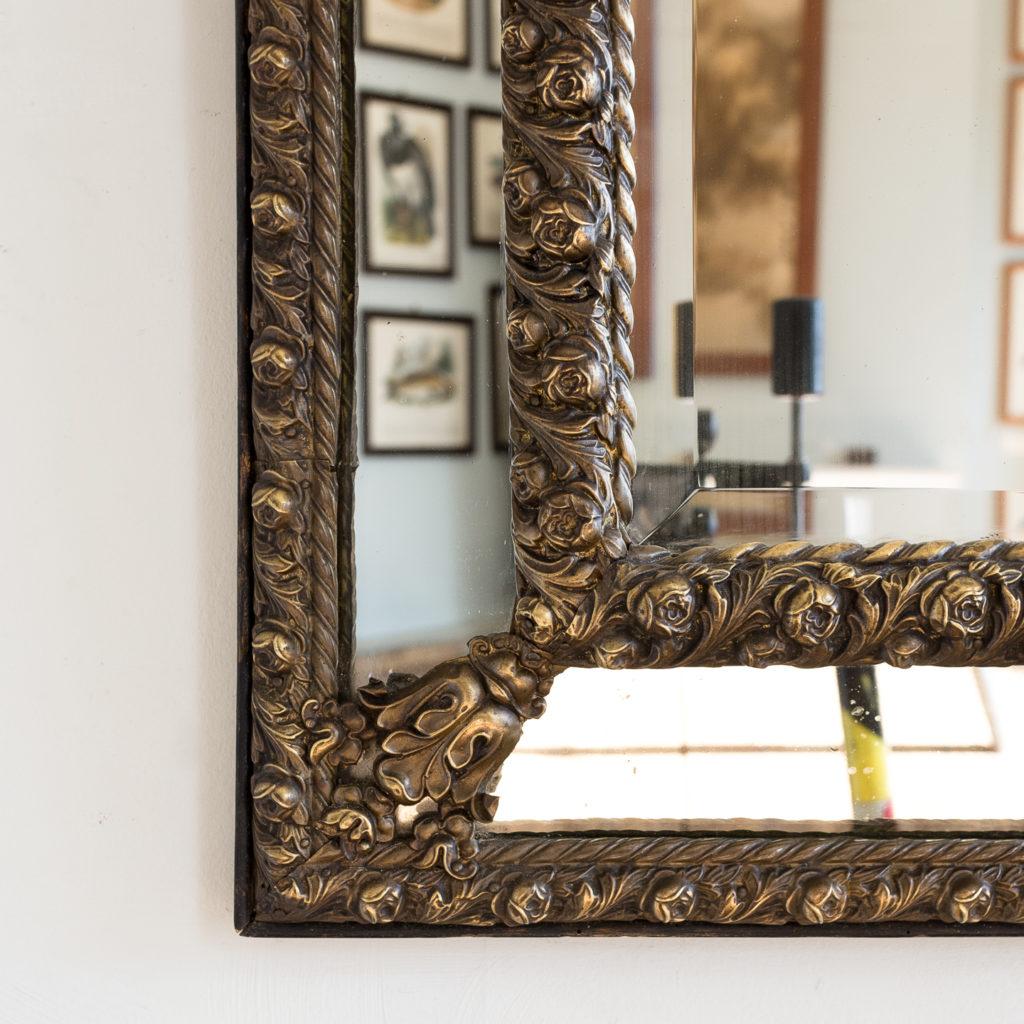 Napoleon III repoussé cushion mirror, -137057