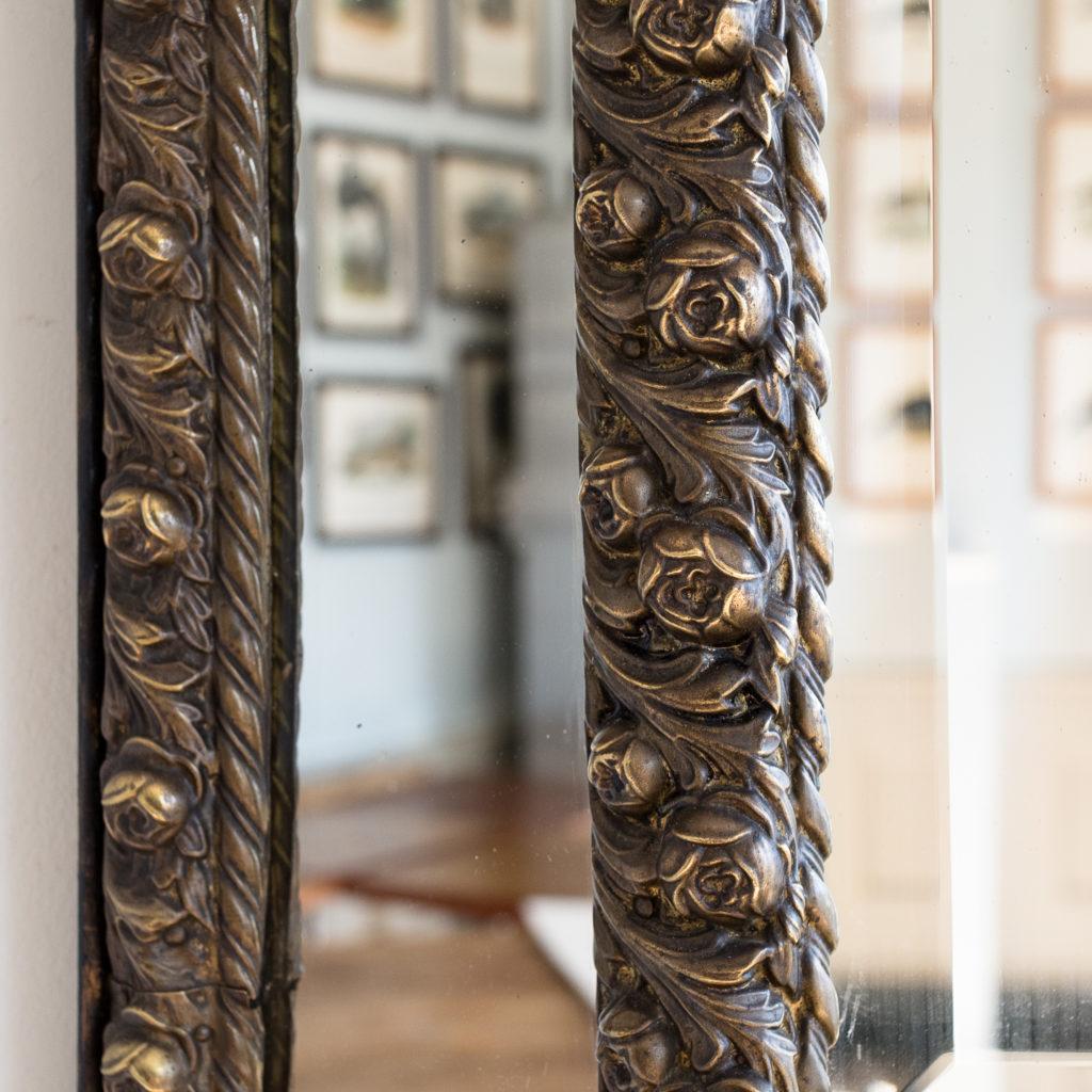 Napoleon III repoussé cushion mirror, -137058