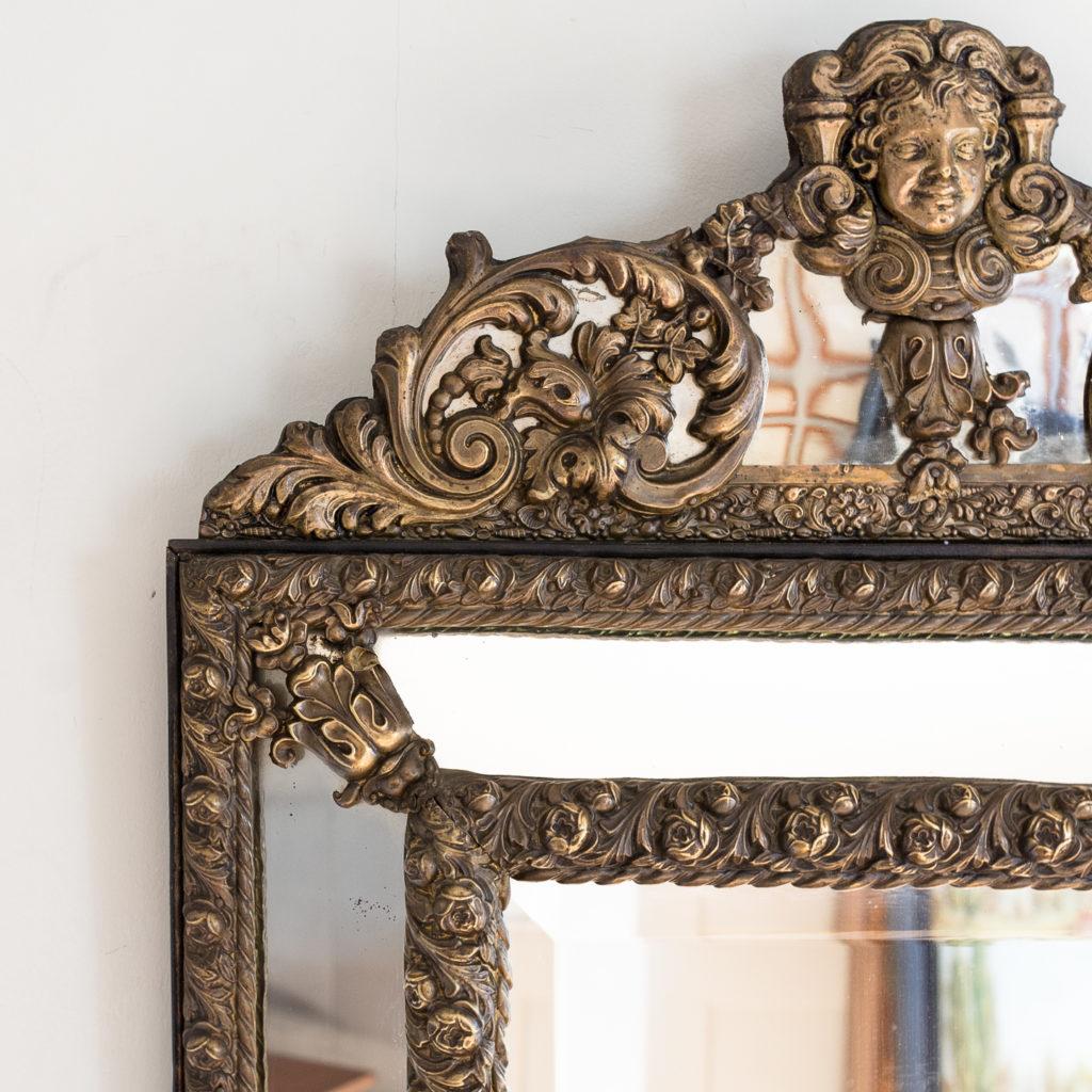 Napoleon III repoussé cushion mirror, -137059