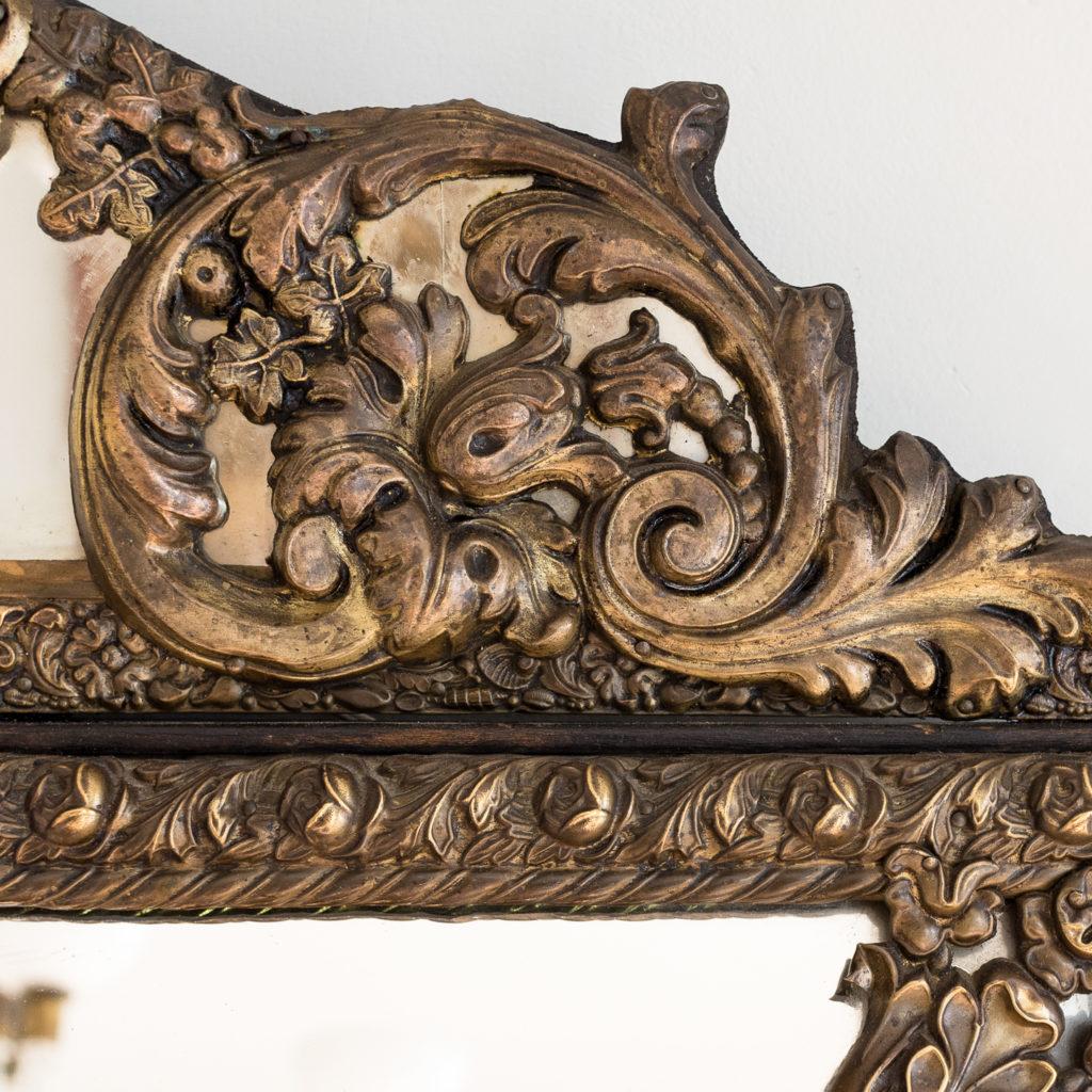 Napoleon III repoussé cushion mirror, -137061