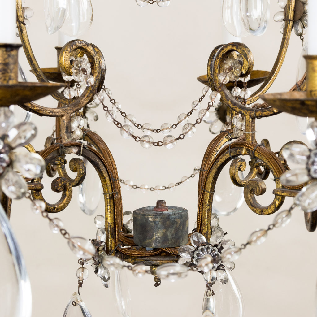 Twentieth century French gilt-metal eight light chandelier, -136942