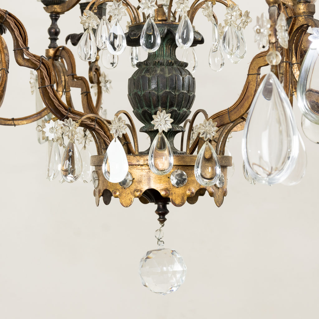 Early twentieth century French parcel-gilt metal chandelier, -136949