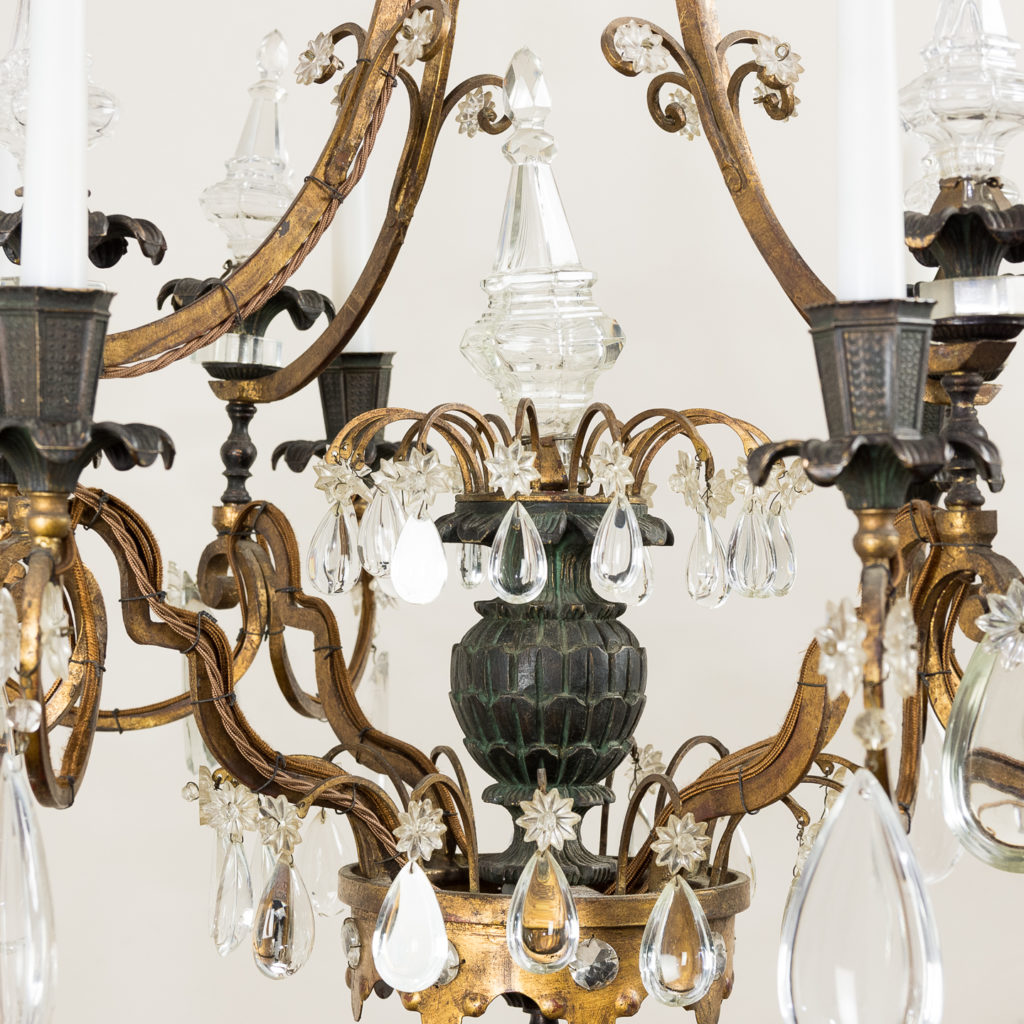 Early twentieth century French parcel-gilt metal chandelier, -136951