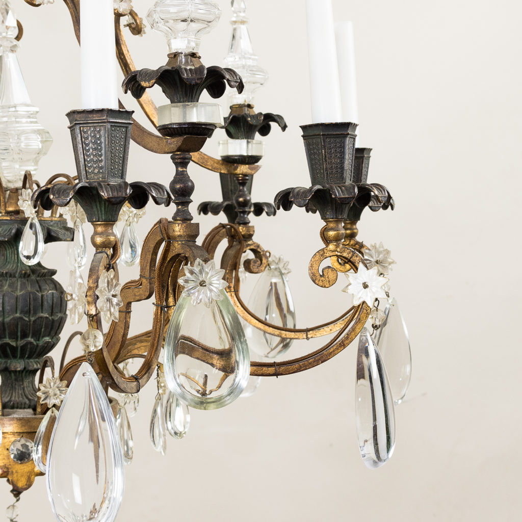 Early twentieth century French parcel-gilt metal chandelier, -136950