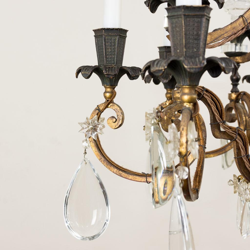 Early twentieth century French parcel-gilt metal chandelier, -136952