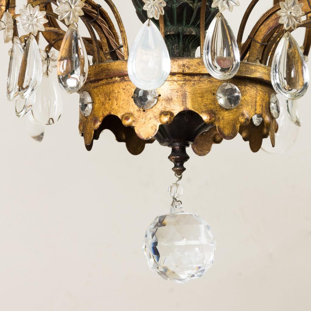 Early twentieth century French parcel-gilt metal chandelier, -136953