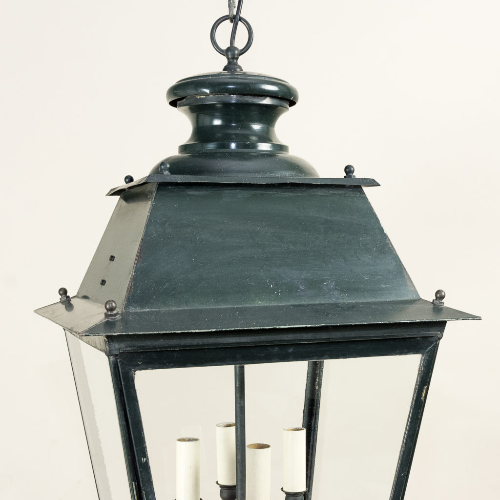 French early twentieth century style glazed lanterns,