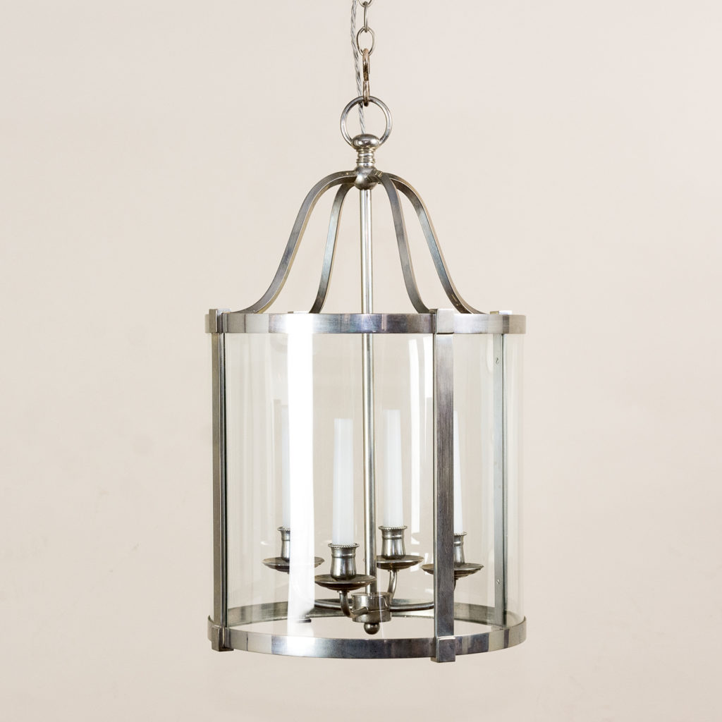 Nickel plate cylindrical hall lantern,