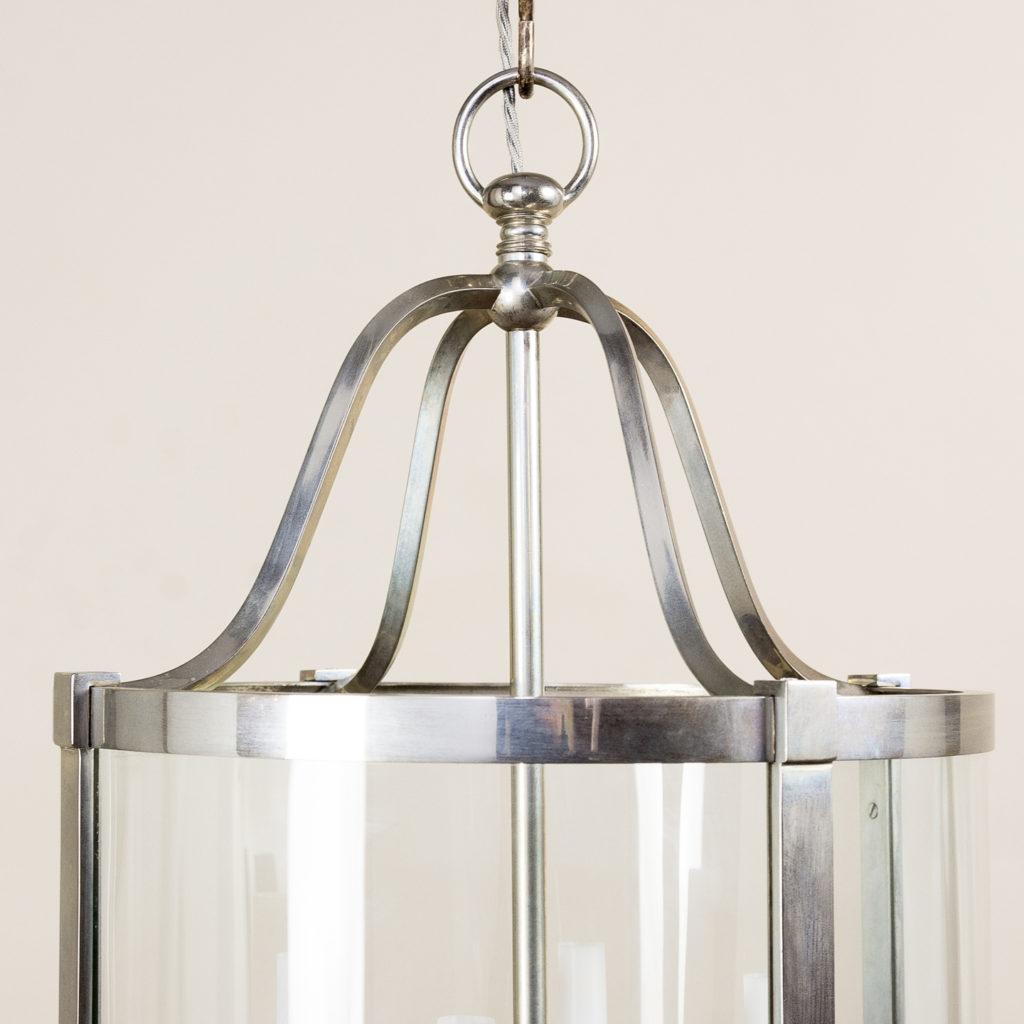 Nickel plate cylindrical hall lantern, -136915
