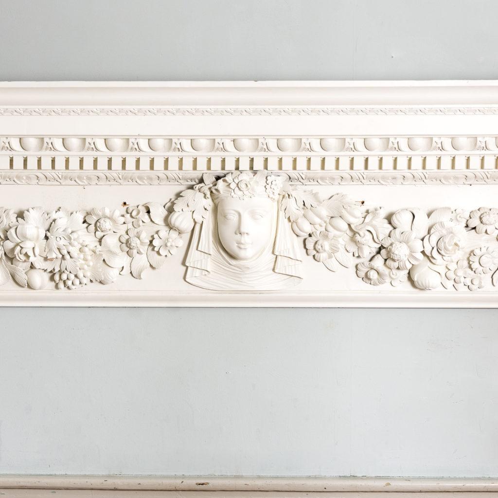 George II pinewood breakfront overdoor, -136955