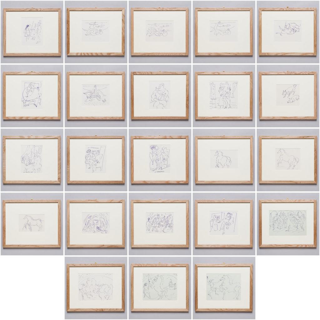 Pablo Picasso 'Pour Eugenia' lithograph,-136420