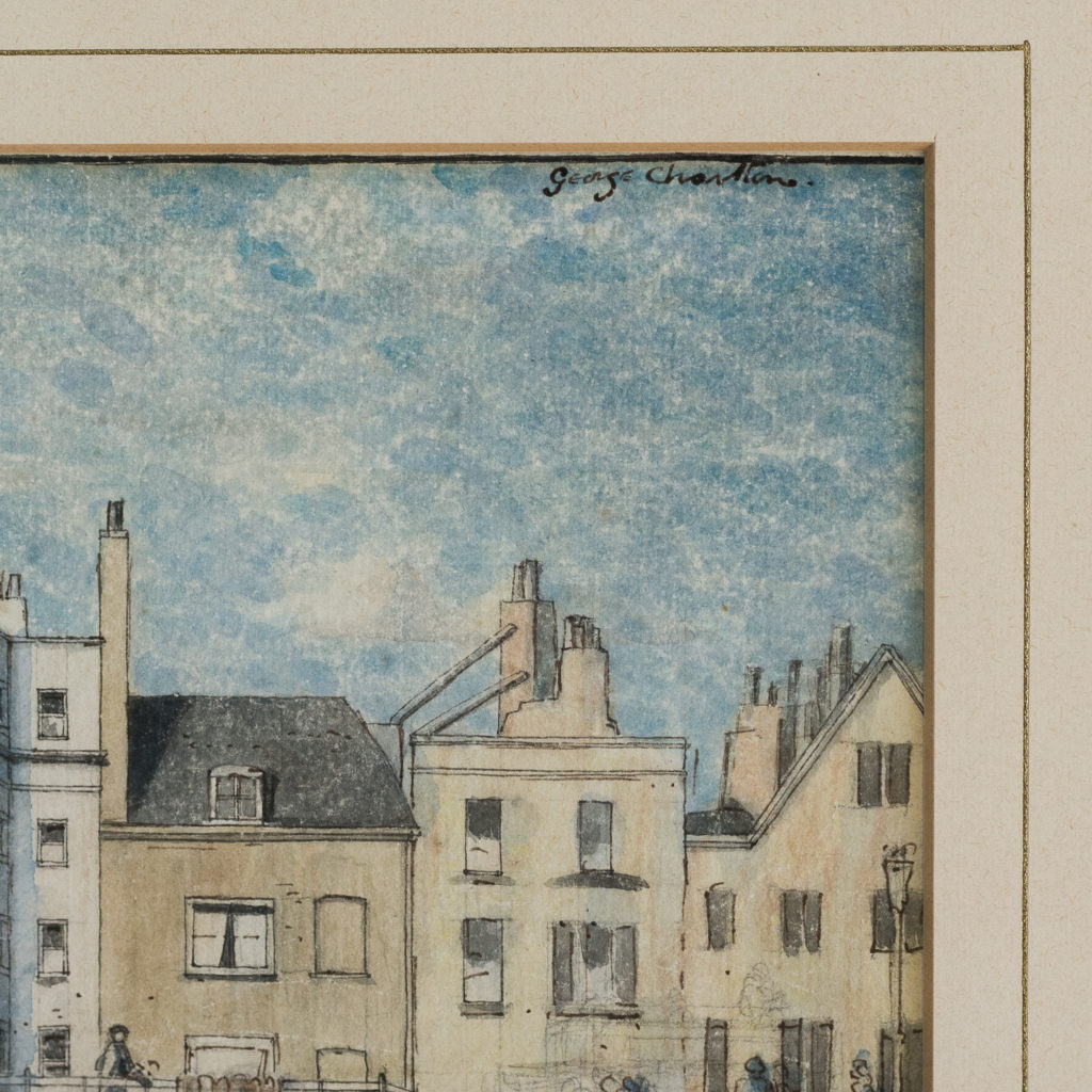 Pair of watercolour and ink paintings of Brighton Beach by George Charlton-136532