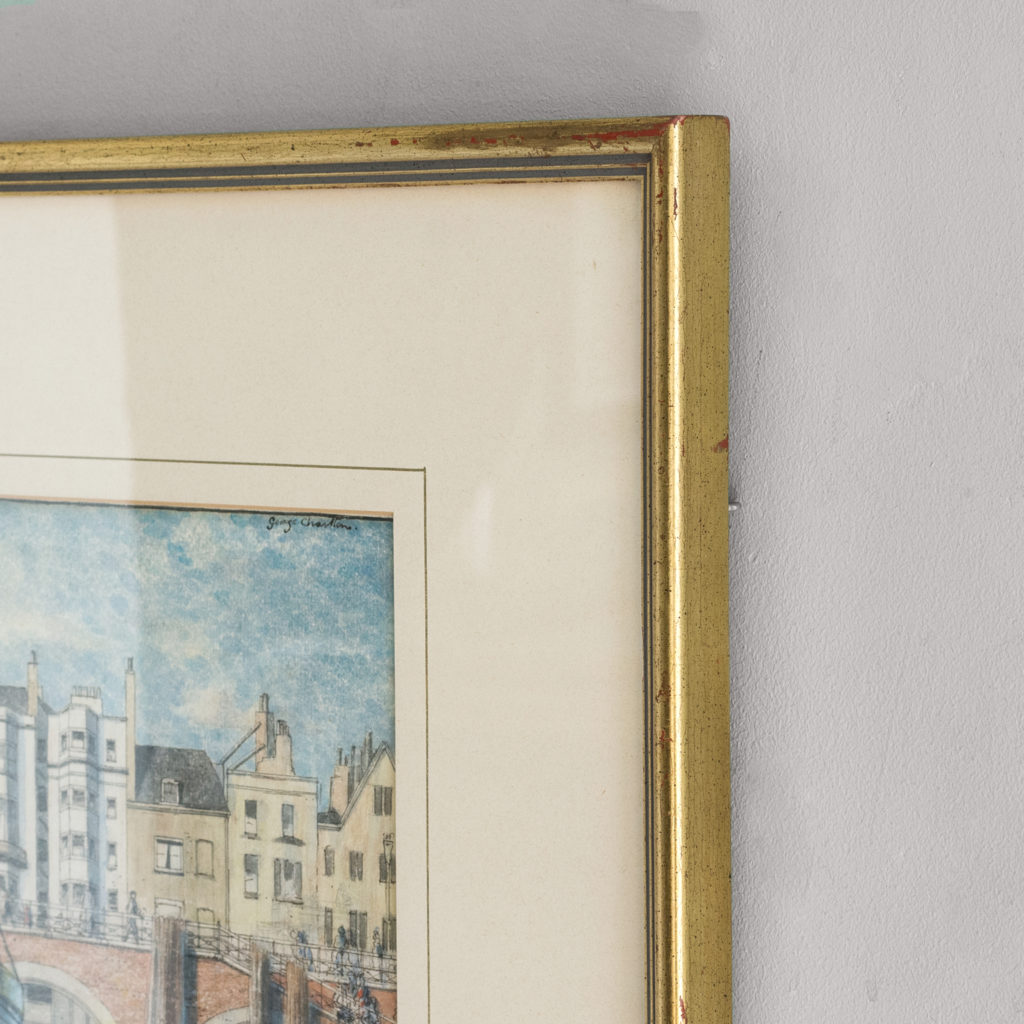 Pair of watercolour and ink paintings of Brighton Beach by George Charlton-136534