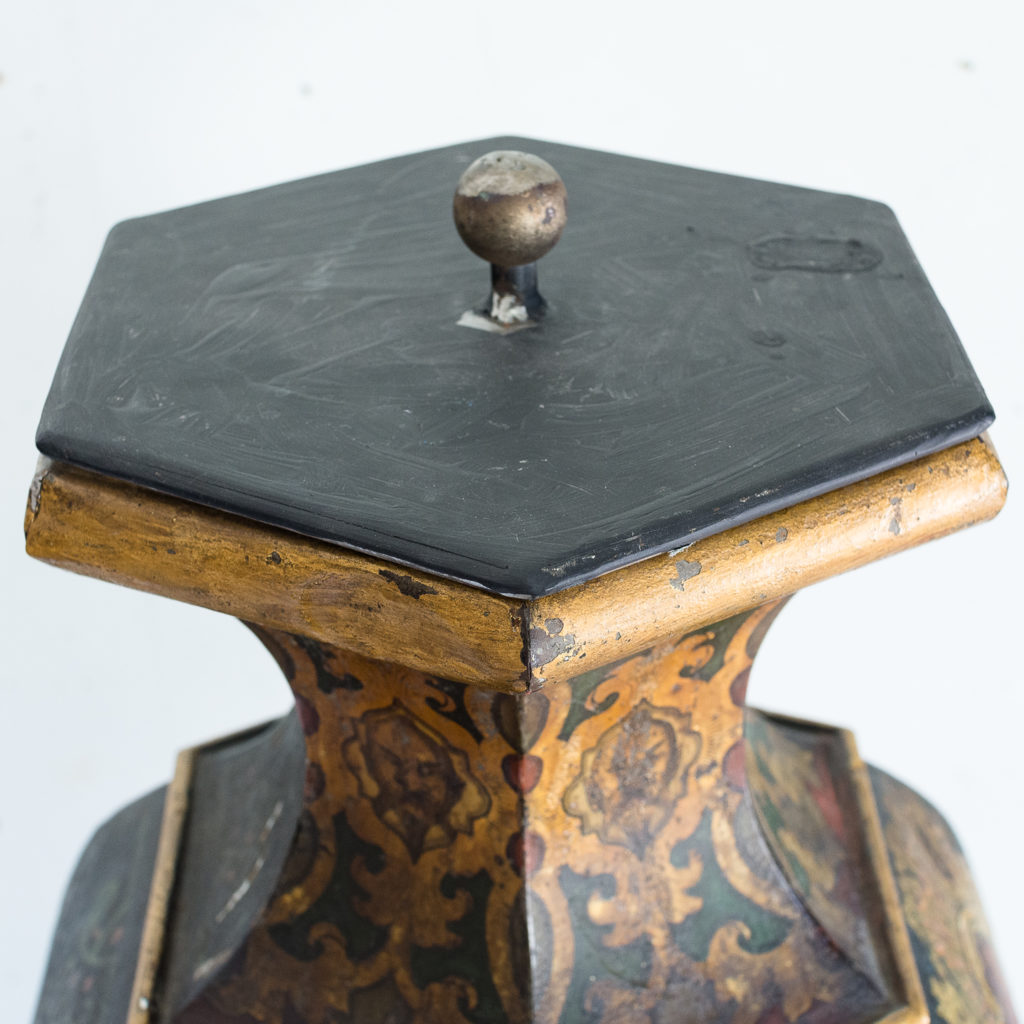 Large Victorian toleware tea canister,-137343