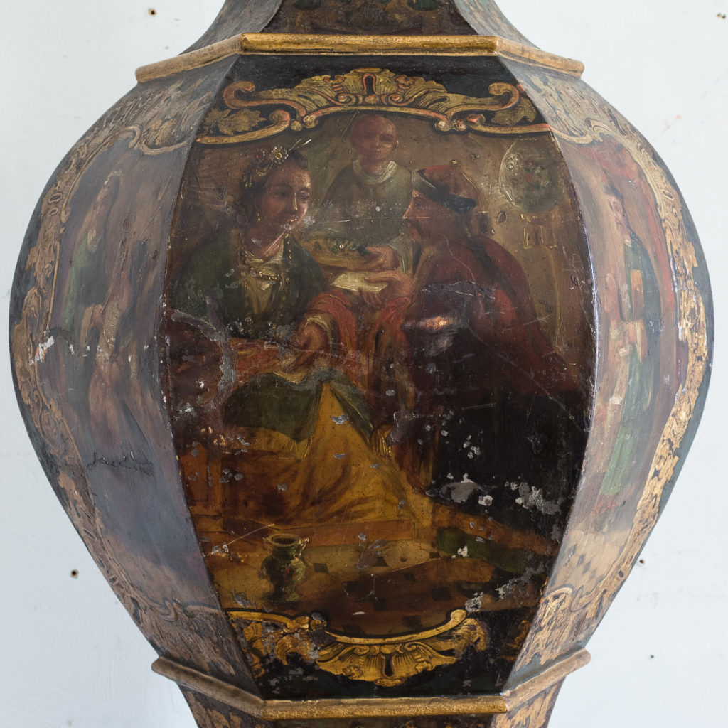 Large Victorian toleware tea canister,-137334